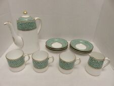 Vintage Chelson Chinz Tea/Coffee Pot Cups Creamer Saucers Lot 11 China Porcelain