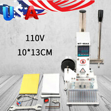 Digital Hot Foil Stamping Machine Leather PVC PU Card Embossing Bronzing 10x13CM