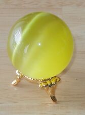 Beautiful Polished Natural Yellow Crystal Sphere ~ A Nice Decorative Piece!