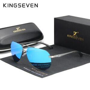 KINGSEVEN Aluminum Magnesium Polarized Rimless Lens High Definition Sunglasses