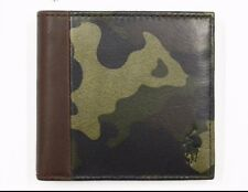 Polo-Ralph-Lauren Camouflage-Bifold-Wallet-Leather-Brown-Green   R.R.P £128.00