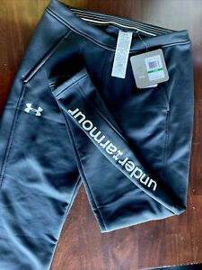 Under Armour Youth Large Warm Thick Black Sweat Pants Girls Cold Gear NWT!