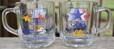 1984 Los Angeles Olympics McDonalds glasses  Set of 2 Made in USA