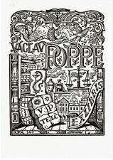 JAN KONUPEK: Exlibris für Vaclav Poppe