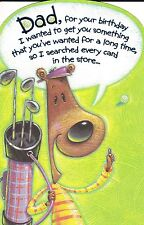 "Greeting Card - Birthday - ""DAD, I SEARCHED..."" (Golf) - by Carlton Cards & AGC!"