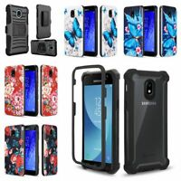 Fit Galaxy J7 Star / J7 Refine / J7 V 2nd Gen 2018 J7 Crown Case +Tempered Glass