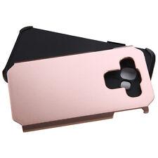 For SAMSUNG Galaxy E5 / S978L GOLD BLACK FUSION HYBRID RUBBER SKIN COVER CASE