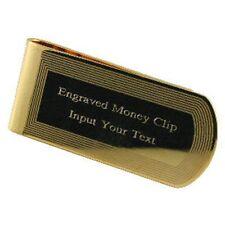 Edge Money Clip Gold-Tone Engraved