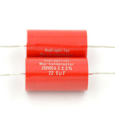 2pcs 22UF 250V Audiophiler MKP-kondensotor MKP Tubular Audio Coupling Capacitors