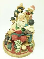 """Santa Claus Figure Collectible 9"""" Reading with Kids Christmas Home Decoration"""