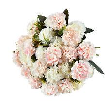 4Pack Artificial Hydrangea Flowers Fake Silk Bouquet Flower Wedding Room Decor