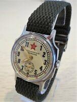 Pobeda Wrist Watch ZIM Stakhanov Foremost Way USSR+ New NATO Strap /Serviced