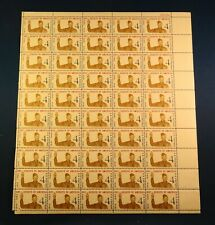 Full Sheet of 50 1960 BSA Stamps with Norman Rockwell Scout Illustration
