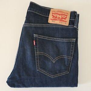 Levis 511 Mens Slim Fit Jeans W32 L32 Blue Good Condition