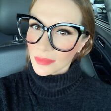 Oversized Square Cat EYE XXL Frames Clear Lens Fashion Women Big Eyeglasses 7030
