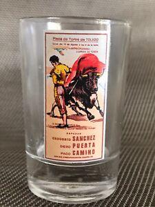 PLAZA DE TOROS DE TOLEDO GREGORIO SÁNCHEZ, DIEGO PUERTA, PACO CAMINO. SHOT GLASS
