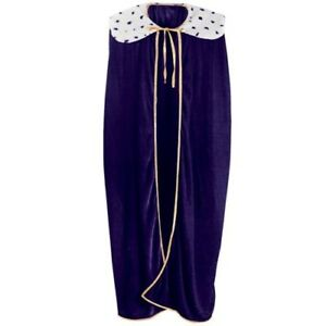 King/Queen Adult Size Purple Robe Fabric Costume Prop Royal Knight Party