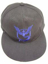 XCOSER POKMON GO FACTIONS COSPLAY BLACK WITH BLUE LOGO ADJUSTABLE  BASEBALL CAP
