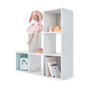 Modern 6 Cube Bookcase Shelving Unit Display Storage Wooden Shelf Home Office BF