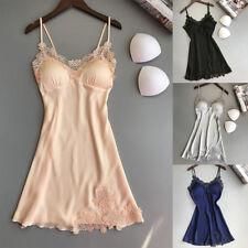 Women-Sexy Lace Lingerie Silk Robe Dress Babydoll Nightdress Nightgown Sleepw ji