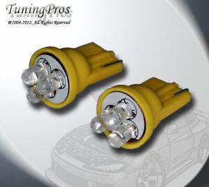 2pcs of T10 Wedge LED Step Light 3 Yellow Light Bulbs One Pair 168 2821 2886X