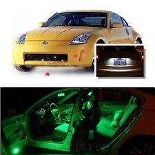 For Nissan 350Z 2003-2009 Green LED Interior Kit + Xenon White License Light LED
