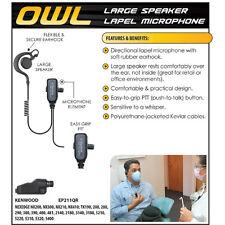 Quick Release Headset Owl Lapel Mic Kenwood NX200 NX300 TK2180 TK3180 TK5210