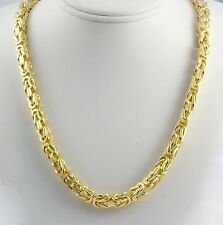"""286.70 gm 14k Yellow Solid Gold Men's Women's Byzantine Chain Necklace 28"""" 8 mm"""