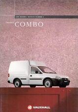 Vauxhall Combo Van 1994-95 UK Market Sales Brochure Merit LS 1.4i 1.7D Corsa