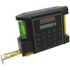 Amtech 3m/10ft cinta métrica con la calculadora de nivel de Burbuja & Lápiz de Ancho Hoja
