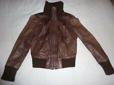 Oasis size 10 brown, tan leather jacket