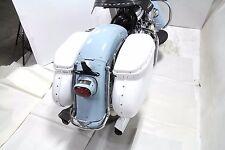 1958-1984 Harley Davidson Panhead Shovelhead Replica Bubble Saddlebag Set White