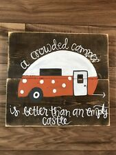 Handpainted Camper Sign    FREE SHIPPING