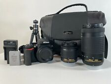 Nikon D3500 DSLR Camera with 18-55mm and 70-300mm Lenses Shutter Count is 189