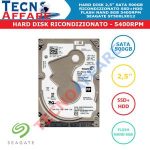 """Hard Disk Interno 2.5"""" SATA 500GB 5400RPM SSHD Ibrido SSD+HDD Seagate"""