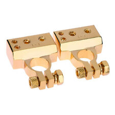 2 Pcs Car Battery Terminal Clamps Connectors Positive & Negative 2 4 8 Gauge AWG