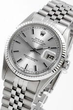 Rolex Men's Datejust Steel Silver Index Gold Fluted Jubilee 16014 Quickset