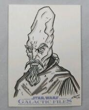Star Wars Galactic Files Sketch Card Ki Adi Mundi by Chris Raimo