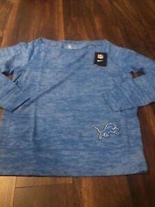 Nike Detroit Lions Womens NFL Football Sweatshirt Size Small Blue