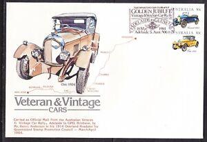 Australia 1984 Veteran & Vintage Cars BIG  First Day Cover - Golden Jubilee