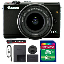 Canon EOS M100 Mirrorless Digital Camera with 15-45mm Lens and 8GB Memory Card
