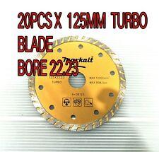 "20 x Diamond TURBO Blade  5"" 125mm electric Angle Grinder masonry brick concre"