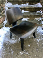 Vintage Eames LCW Chair Herman Miller Lounge Chair Wooden Legs Ebonized