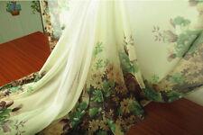 2 Yard 30D floral Positioning print Chiffon fabric Elegant Dress Material Gauze