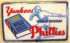 1950 World Series Patch Willabee Ward New York Yankees vs Philadelphia Phillies