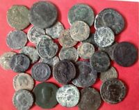 LARGE UNCLEANED ROMAN DESERT COINS 15 to 36 mm  EVERY bid is per coin !!