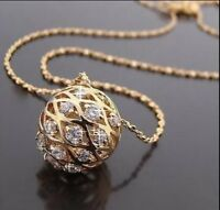 18ct Gold Plated Chain Necklace with Swarovski elements Pendants UK