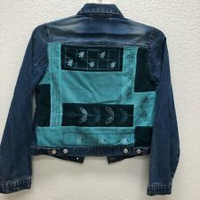 Joann Fabrics Junior Medium Jean Jacket With patchwork Corduroy embellishments
