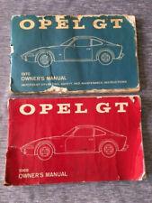 1969 and 1970 Opel Gt Owner'S Manual Guide Book Original