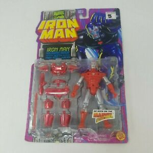 Marvel Comics Iron Man Hologram Armor with Power Missle Launcher Toy Biz 1995